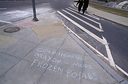 Street graffiti regarding politics in Washington, DC