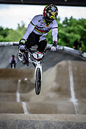 #1 (ANDRE Sylvain) FRA at Round 5 of the 2019 UCI BMX Supercross World Cup in Saint-Quentin-En-Yvelines, France