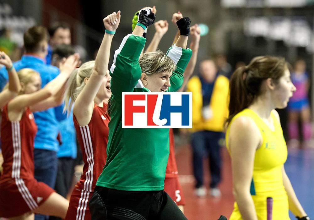 BERLIN - Indoor Hockey World Cup<br /> Quarterfinal 1: Belarus - Australia<br /> foto: MIKANOVICH Veranika.<br /> WORLDSPORTPICS COPYRIGHT FRANK UIJLENBROEK