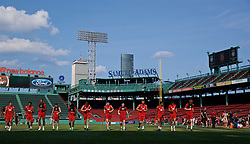 BOSTON, MASSACHUSETTS, USA - Saturday, July 20, 2019: Liverpool players during an open training session at Fenway Park ahead of a friendly against Seville on day five of the club's pre-season tour of America. (Pic by David Rawcliffe/Propaganda)