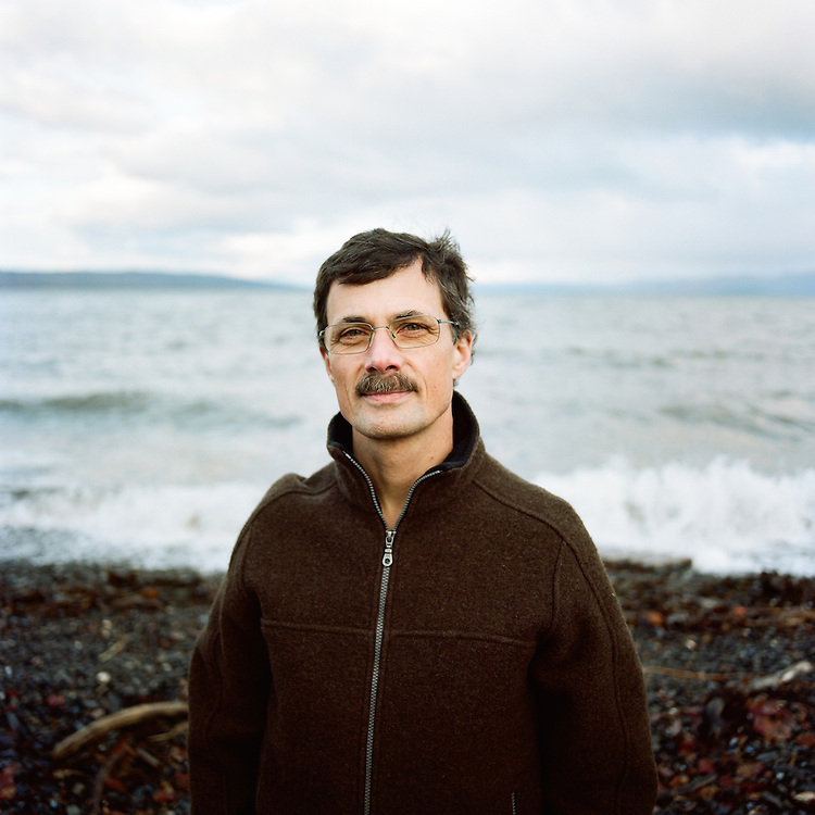 HOMER, ALASKA - DECEMBER 8: Craig Matthews on the coast of Homer, Alaska on December 8th, 2014.  (Photo by Brian Adams/Getty Images Assignment for The New York Times Magazine)