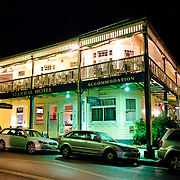 Federal Hotel in Bellingen at night. Bellingen is near Waterfall Way in north central New South Wales