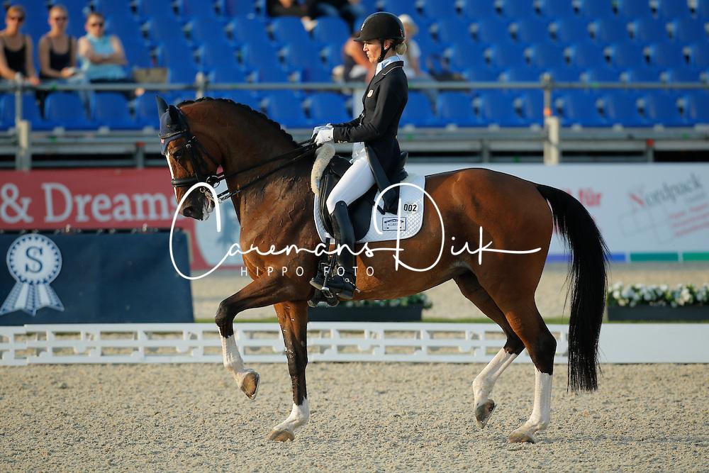 Page Arlene, (USA), Alina<br /> Grand Prix Freestyle Kür<br /> CDIO Hagen 2015<br /> © Hippo Foto - Stefan Lafrentz