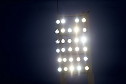 MADRID, SPAIN - Tuesday, November 4, 2014: Floodlights during the UEFA Youth League Group B match at Ciudad Real Madrid. (Pic by David Rawcliffe/Propaganda)