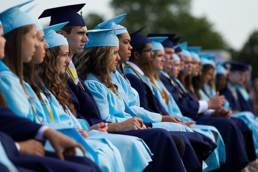 during Highland Regional High School graduation on Thursdays June 14, 2012 . (photo / Mat Boyle)