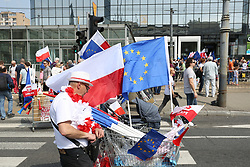 May 6, 2017 - Warsaw, Poland - March of freedom held in Warsaw to protest against government. Opposition parties 'Nowoczesna', Platforma Obywatelska', the Committee for the Defense of Democracy' (KOD) and several activist groups met the demonstration. (Credit Image: © Madeleine Lenz/Pacific Press via ZUMA Wire)
