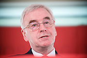 John McDonnell MP, Labour&rsquo;s Shadow Chancellor pre-budget intervention on the economy ahead of the upcoming Spring Budget on the 8th March which <br /> covered Labour&rsquo;s plans for the future of Britain&rsquo;s economy and demands on the Government ahead of the Budget.  <br /> 2nd March 2017.<br /> Southbank Centre, London, Great Britain <br /> <br /> John McDonnell MP <br /> <br /> <br /> Photograph by Elliott Franks <br /> Image licensed to Elliott Franks Photography Services