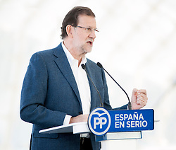 07.12.2011, Ciudad de las Artes y las Ciencias, Valencia, ESP, Spanische Parlamentswahlen, Präsentation Wahlprogramm der PP, im Bild Prime ministre Mariano Rajoy // during the PP electoral program presentation for the Spanish Generals elections. Ciudad de las Artes y las Ciencias in Valencia, Spain on 2011/12/07. EXPA Pictures © 2015, PhotoCredit: EXPA/ Alterphotos/ Javier Comos<br /> <br /> *****ATTENTION - OUT of ESP, SUI*****