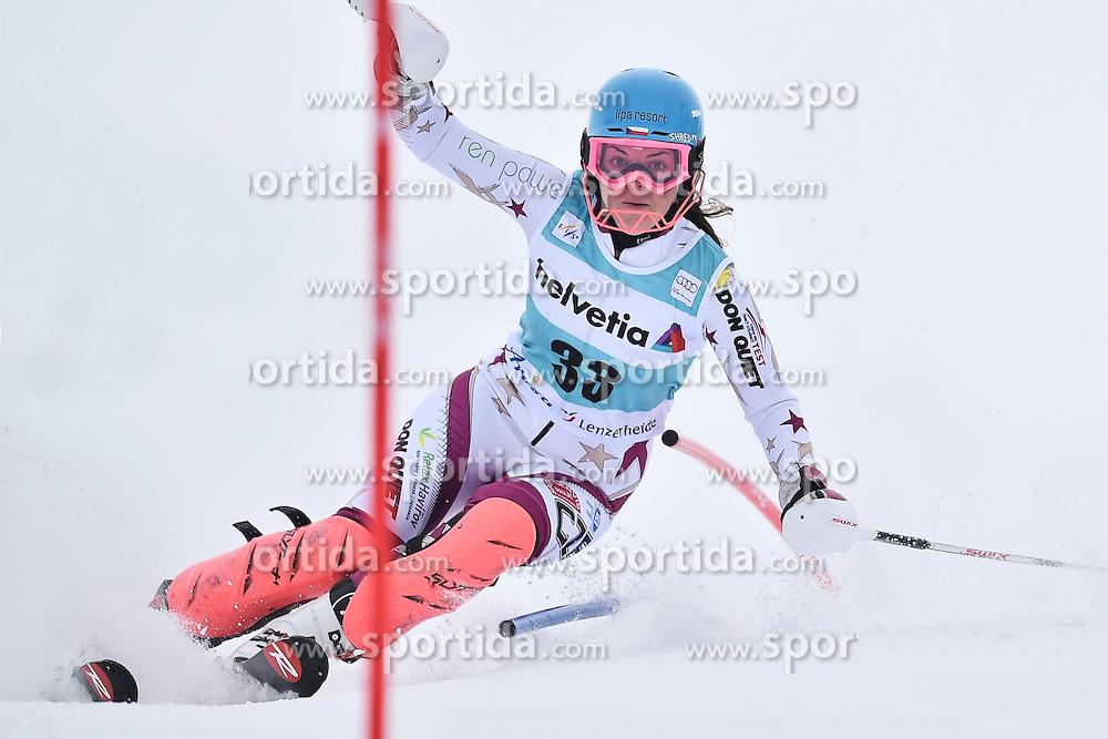 13.03.2016, Pista Silvano Beltrametti, Lenzerheide, SUI, FIS Weltcup Ski Alpin, Lenzerheide, Superkombination, Slalom, Damen, im Bild Katerina Paulathova (CZE) // during ladie's Supercombi, Slalom Race of Lenzerheide FIS Ski Alpine World Cup at the Pista Silvano Beltrametti in Lenzerheide, Switzerland on 2016/03/13. EXPA Pictures &copy; 2016, PhotoCredit: EXPA/ Freshfocus/ Manuel Lopez<br /> <br /> *****ATTENTION - for AUT, SLO, CRO, SRB, BIH, MAZ only*****