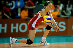 09-04-2009 VOLLEYBAL: EK JEUGD BELGIE - SERVIE: ROTTERDAM <br /> Belgie wint goud op het Europees Kampioenschp Jeugd door Servie met 3-1 te verslaan / Karolien Vleugels<br /> ©2009-WWW.FOTOHOOGENDOORN.NL