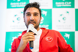 Serkan Akin Dilek of Turkey during Official Draw of Davis Cup 2018 Europe/Africa zone Group II between Slovenia and Turkey, on April 6, 2018 in Portoroz / Portorose, Slovenia. Photo by Vid Ponikvar / Sportida