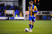 Jordan Clark of Shrewsbury Town during the Sky Bet League 1 match between Shrewsbury Town and Coventry City at Greenhous Meadow, Shrewsbury, England on 8 March 2016. Photo by Mike Sheridan.