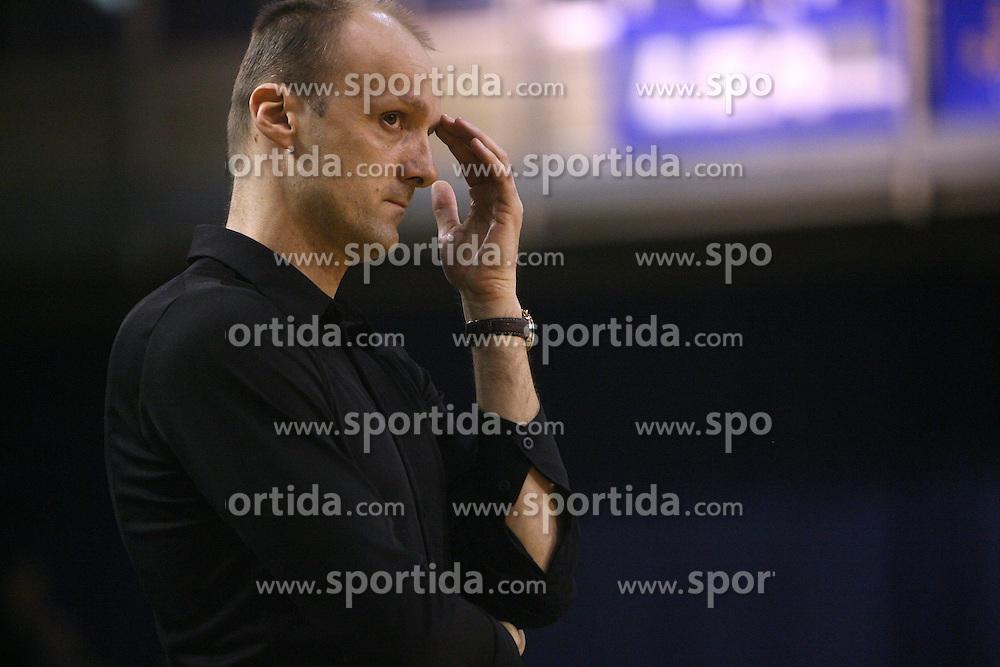 Head coach of Olimpija Jure Zdovc at Round 25 of NLB League basketball match between KK Union Olimpija and KK Zadar,  in Arena Tivoli, Ljubljana, Slovenia, on March 14, 2009.  Win of Olimpija 73 : 67. (Photo by Vid Ponikvar / Sportida)