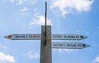 TILBURG -  richtingaanwijzer, PRISE D'EAU GOLF, golfbaan.  COPYRIGHT KOEN SUYK