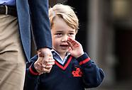 Prince George 1st Day @ School - 6 Sep 2017