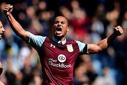 Gabriel Agbonlahor of Aston Villa celebrates  on the final whistle  - Mandatory by-line: Joe Meredith/JMP - 23/04/2017 - FOOTBALL - Villa Park - Birmingham, England - Aston Villa v Birmingham City - Sky Bet Championship