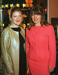 Left to right, MISS TANIA BENNETT and her sister MISS LINDA BENNETT, founder of fashion retailer L.K.Bennett, at a reception in London on 29th April 1999.  MRM 6