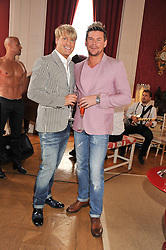 Left to right, GARY COCKERILL and PHIL TURNER at a party to celebrate Tamara Ecclestone's 28th birthday held in Tyringham, Newport Pagnell, Bucks on15th June 2012.