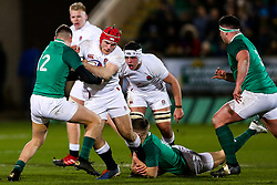 Theo Dan of England U20 - Rogan/JMP - 21/02/2020 - Franklin's Gardens - Northampton, England - England U20 v Ireland U20 - Under 20 Six Nations.
