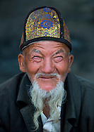 Old Uyghur man in Serik Buya market, Yarkand, Xinjiang Uyghur autonomous region, China.