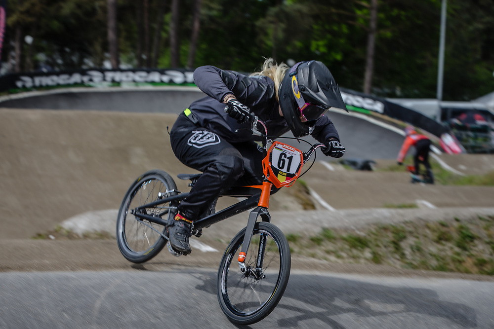 #61 (VEENSTRA Manon) NED during round 3 of the 2017 UCI BMX  Supercross World Cup in Zolder, Belgium,