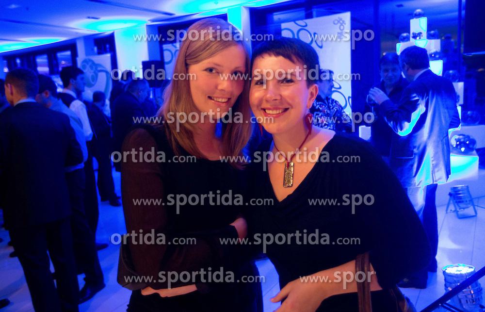 Andreja Potocnik and Vesna Stanic during traditional New Year Gala Night Reception of NZS - Football Association of Slovenia, on December 17, 2012 in Kongresni center, Brdo pri Kranju, Slovenia. (Photo By Vid Ponikvar / Sportida.com)