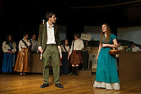 "Dress rehearsal for ""Brigadoon"" at Laconia High School.  Karen Bobotas/for the Laconia Daily Sun"