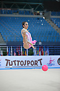 Crescenzi Carmen during qualifying at ball in Pesaro at World Cup at Adriatic Arena on April 26, 2013. Carmen is an Italian gymnast was born on September 27, 1998.