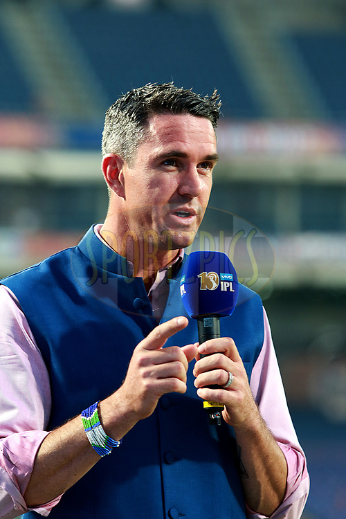 Kevin Pietersen before match 9 of the Vivo 2017 Indian Premier League between the Rising Pune Supergiants and the Delhi Daredevils held at the MCA Pune International Cricket Stadium in Pune, India on the 11th April 2017<br /> <br /> Photo by Rahul Gulati- IPL - Sportzpics