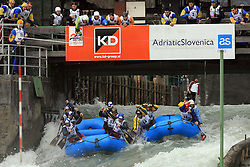 BVS Raft Team of Slovakia vs Team Germany at Euro Cup 2009 R6 Rafting in TT & H2H and Slovenian National Championship 2009, on April 4, 2009, in Tacen, Ljubljana, Slovenia. (Photo by Vid Ponikvar / Sportida)