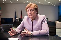 20 MAR 2017, BERLIN/GERMANY:<br /> Angela Merkel, CDU, Bundeskanzlerin, waehrend einem Interview, in ihrem Buero, Bundeskanzleramt<br /> IMAGE: 20170320-01-005<br /> KEYWORDS: B&uuml;ro