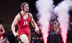 The Rutgers Scarlet Knights wrestling team takes on the Michigan Wolverines at the RAC on Sunday, February 7, 2016.<br /> (Ben Solomon/Rutgers Athletics)