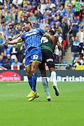 Darius Charles defender for AFC Wimbledon (32) during the Sky Bet League 2 play off final match between AFC Wimbledon and Plymouth Argyle at Wembley Stadium, London, England on 30 May 2016. Photo by Stuart Butcher.