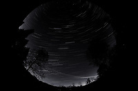 Night Sky Over New Jersey. Composite of images (00:00-00:59)  taken with a Nikon D850 camera and 8-15 mm fisheye lens (ISO 800, 10 mm, f/5.6, 30 sec).