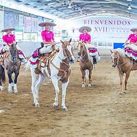 GUADALAJARA , MEXICO - SEP 01 : Charras participate at the 23rd International Mariachi & Charros festival in Guadalajara Mexico on September 01 , 2016.