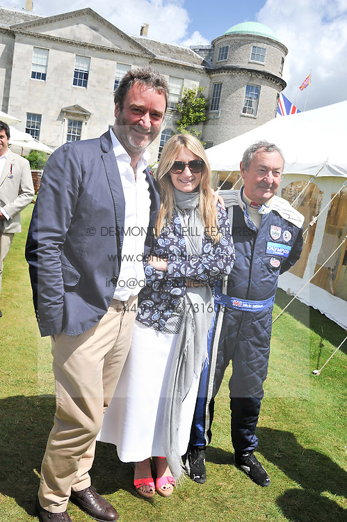 Left to right, JAMES SEYMOUR, ANYA HINDMARCH and NICK MASON at a luncheon hosted by Cartier for their sponsorship of the Style et Luxe part of the Goodwood Festival of Speed at Goodwood House, West Sussex on 1st July 2012.