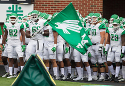 Oct 24, 2015; Huntington, WV, USA; The North Texas Mean Green take the field prior to their game against the Marshall Thundering Herd at Joan C. Edwards Stadium. Mandatory Credit: Ben Queen-USA TODAY Sports