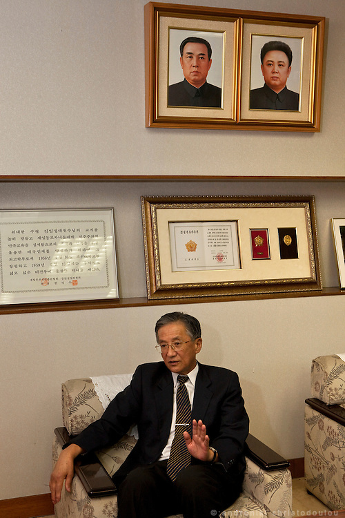 President of N. Korean University in Tokyo Mr Chang Byong-Tae
