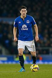 Gareth Barry of Everton looks on - Photo mandatory by-line: Rogan Thomson/JMP - 07966 386802 - 19/01/2015 - SPORT - FOOTBALL - Liverpool, England - Goodison Park - Everton v West Bromwich Albion - Barclays Premier League.
