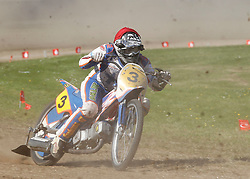 07.06.2015, Leineweberring, Bielefeld, GER, ADAC Motorrad Grasbahnrennen EM, Semifinale 2, im Bild 3 Aarni Heikkil‰/FIN // during the second Semifinal of ADAC Motorcycle GRASSTRACK European Championship at the Leineweberring in Bielefeld, Germany on 2015/06/07. EXPA Pictures © 2015, PhotoCredit: EXPA/ Eibner-Pressefoto/ Stiefel<br /> <br /> *****ATTENTION - OUT of GER*****