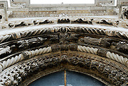 Detail of main portal of the Cathedral of Saint Jacob (Sveti Jakova), Sibenik, Croatia. Sometimes also referred to as Cathedral of Saint James.