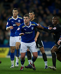 CARDIFF, WALES - Tuesday, February 14, 2012: Cardiff City's Anthony Gerrard in action against Peterborough United during the Football League Championship match at the Cardiff City Stadium. (Pic by David Rawcliffe/Propaganda)