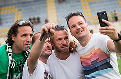 Sebastjan Cimerotic with fans after Olimpija became Slovenian National Champion 2018 after the football match between NK Domzale and NK Olimpija Ljubljana in 36th Round of Prva liga Telekom Slovenije 2017/18, on May 27, 2018 in Sports park Domzale, Domzale, Slovenia. Photo by Vid Ponikvar / Sportida