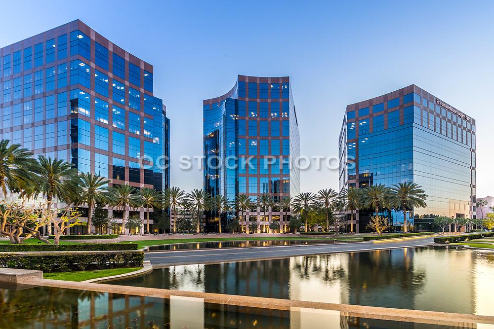 Irvine Business Complex At Dusk