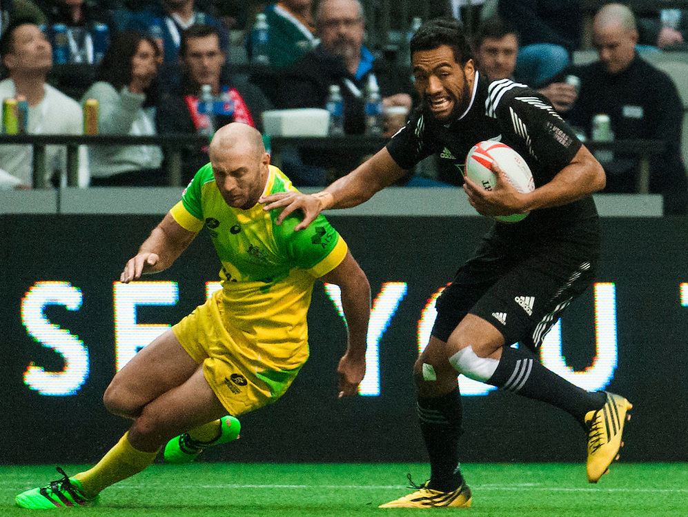 during the knockout stages of the 2016 Canada Sevens leg of the HSBC Sevens World Series Series at BC Place in  Vancouver, British Columbia. Sunday March 13, 2016.<br /> <br /> Jack Megaw<br /> <br /> www.jackmegaw.com<br /> <br /> 610.764.3094<br /> jack@jackmegaw.com