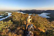 Mountainous landscape in the Serra do Amolar in the Pantanal, Mato Grosso do Sul, Brazil