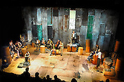 Nederland, Arnhem, 6-5-2007..Theater Oostpool speelt Paradijs Poesjkin in het kader van het Poesjkin-festival wat tot 20 mei in Nijmegen, Arnhem en apeldoorn plaatsvindt. Het stuk wordt uitgevoerd door theatergroep Oostpool, samen met Het Gelders Orkest, Introdans en een trio muzikanten uit Moldavië...Foto Flip Franssen/Hollandse Hoogte