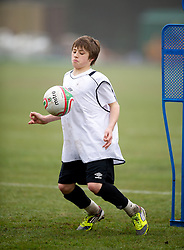 CARDIFF, WALES - Thursday, March 15, 2012: Wales U16's Edward Speed (Wrexham FC & Abbey Gate College) during a training session at the Glamorgan Sports Park. (Pic by David Rawcliffe/Propaganda)