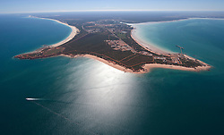 Aerial view of Roebuck Bay and Broome Port showing the Broome peninsula