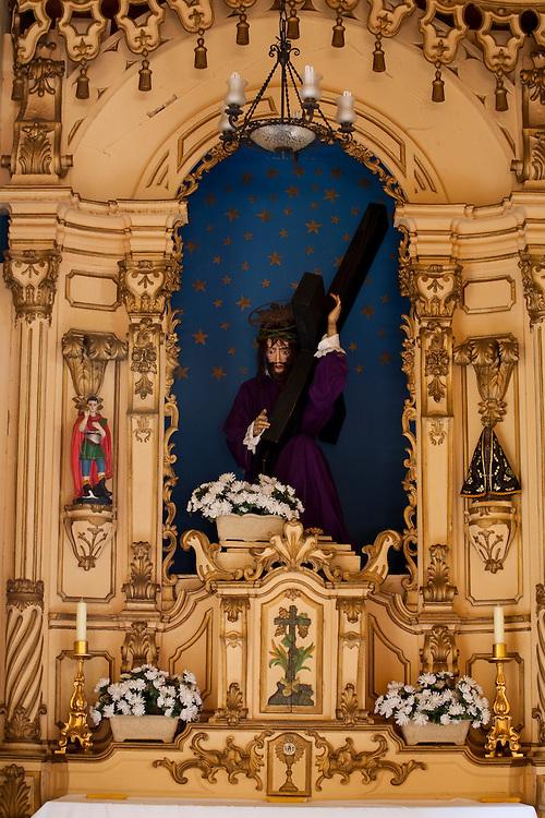 Campanha_MG, Brasil...Imagem de Jesus Cristo na Capela do Santissimo, Catedral de Santo Antonio, em Campanha...Jesus Christ image in the Blessed chapel, Cathedral of Santo Antonio, in Campanha...Foto: LEO DRUMOND / NITRO.....